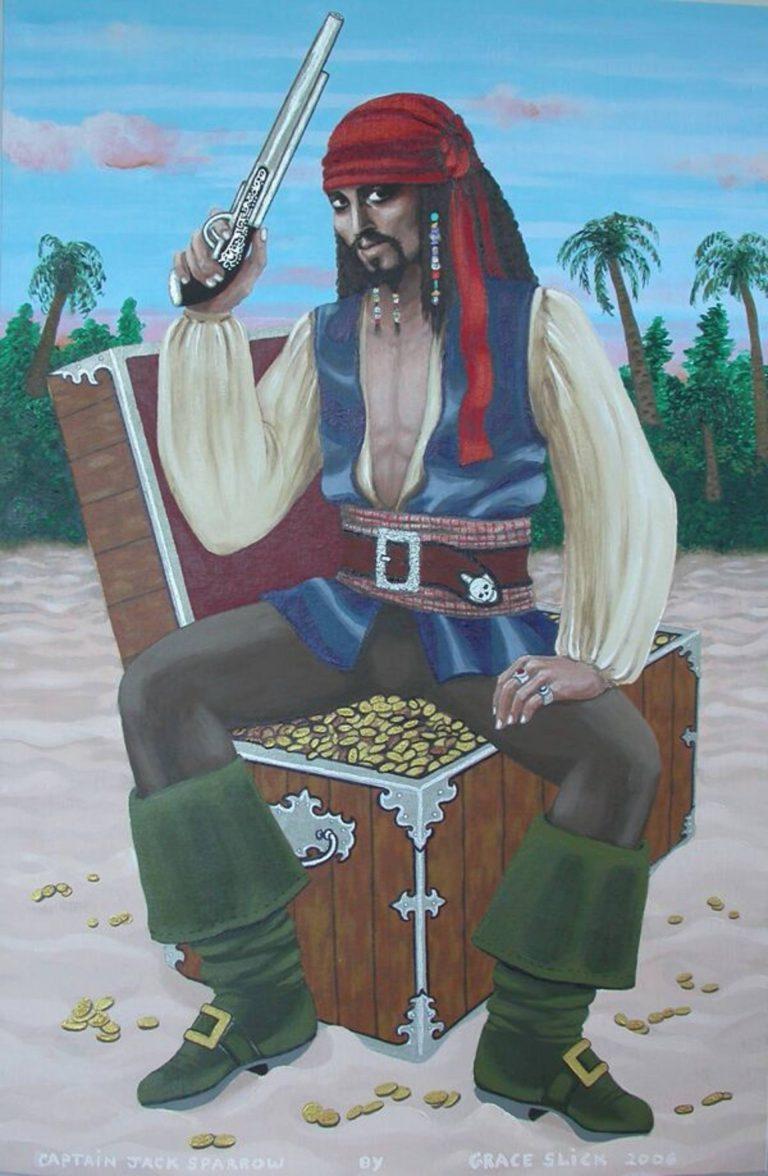Captain Jack Sparrow by Grace Slick