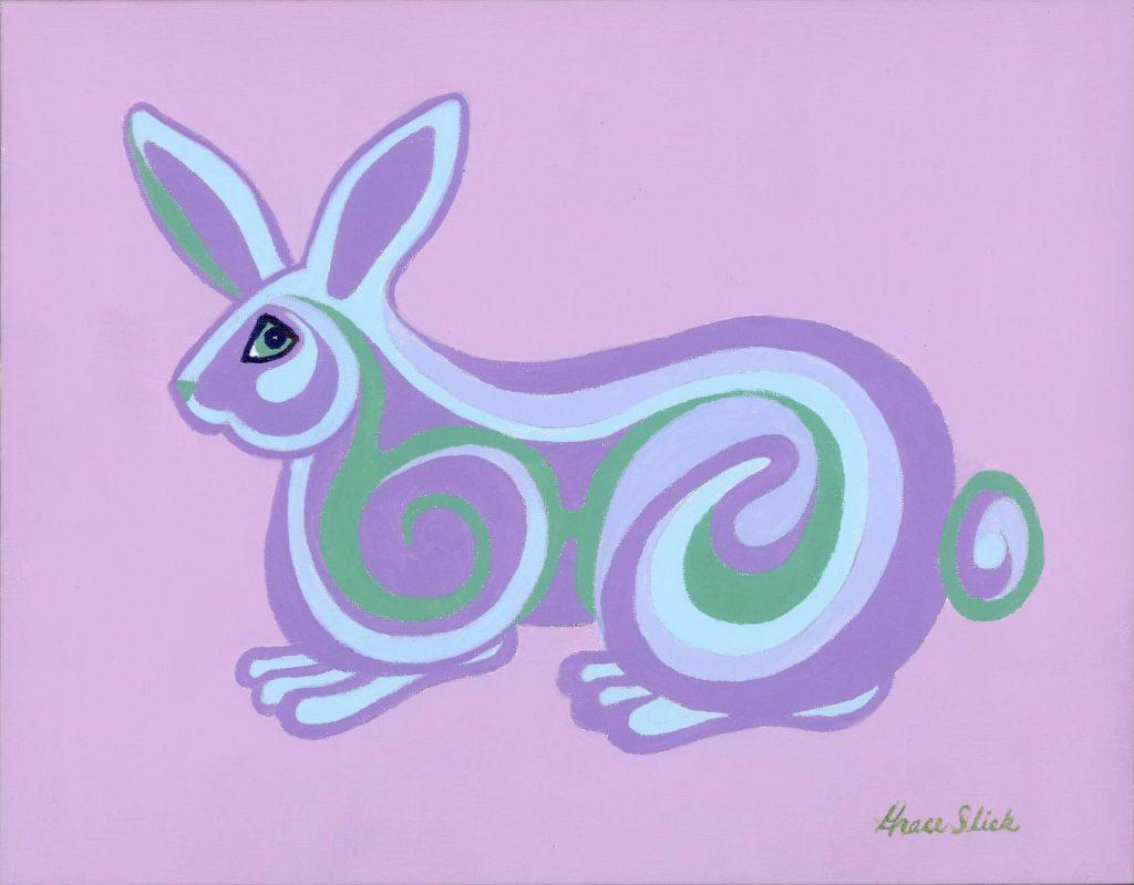 Psychedelic Bunny by Grace Slick